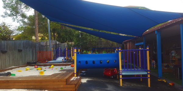 Shade sails for Daycare Centres